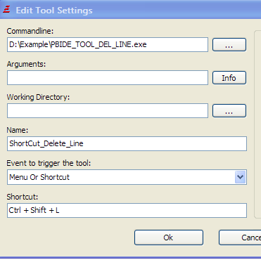 Purebasic IDE增加代码删除行快捷键工具源码